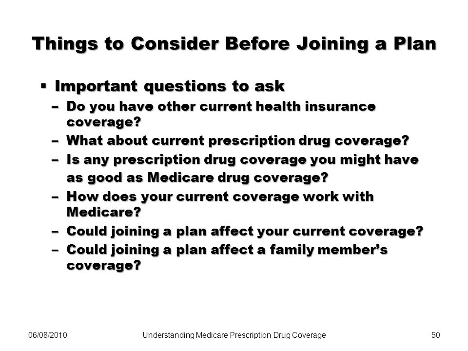 Things to Consider Before Joining a Plan