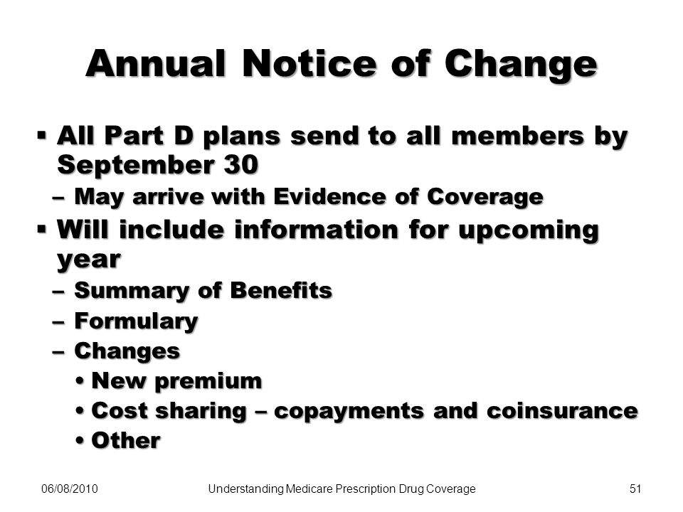 Annual Notice of Change