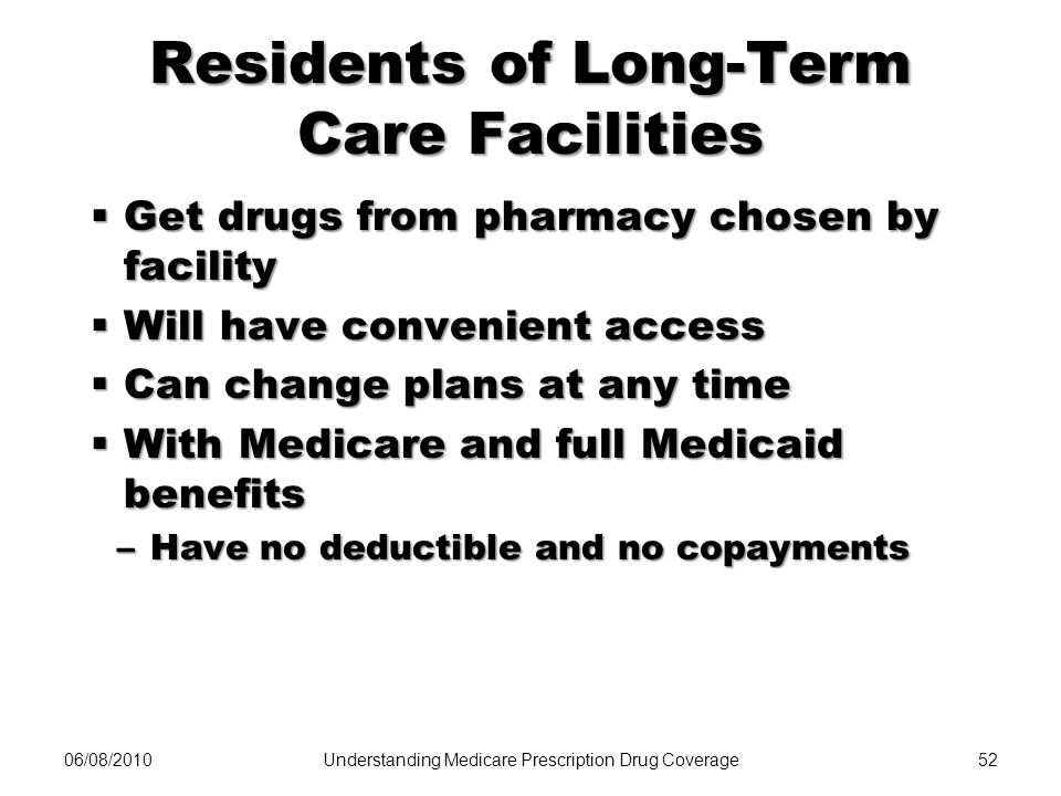 Residents of Long-Term Care Facilities