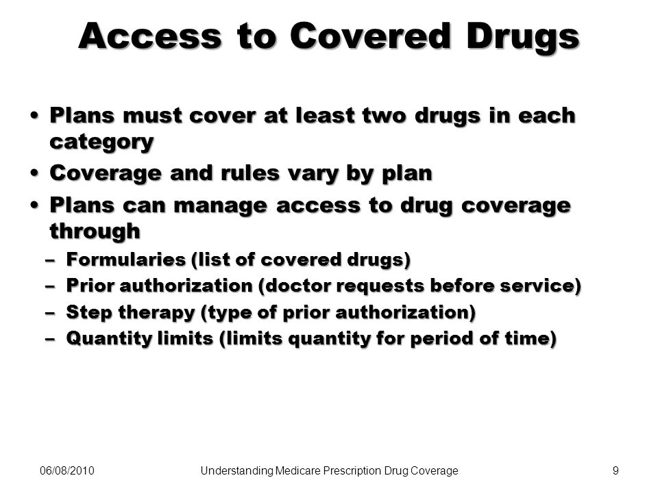 Access to Covered Drugs