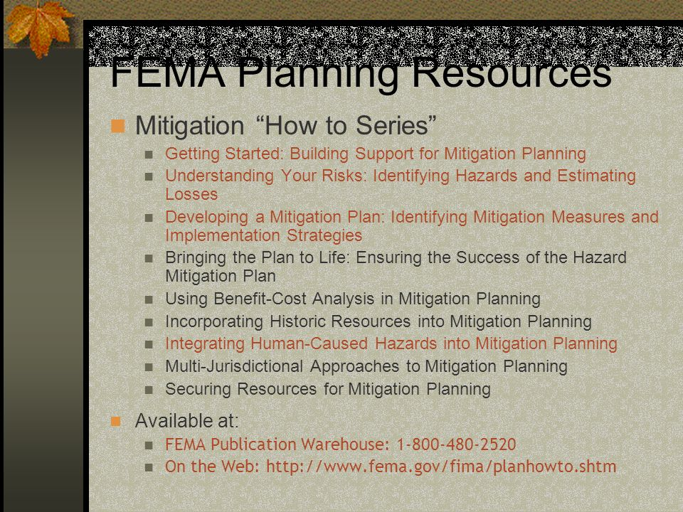 FEMA Planning Resources