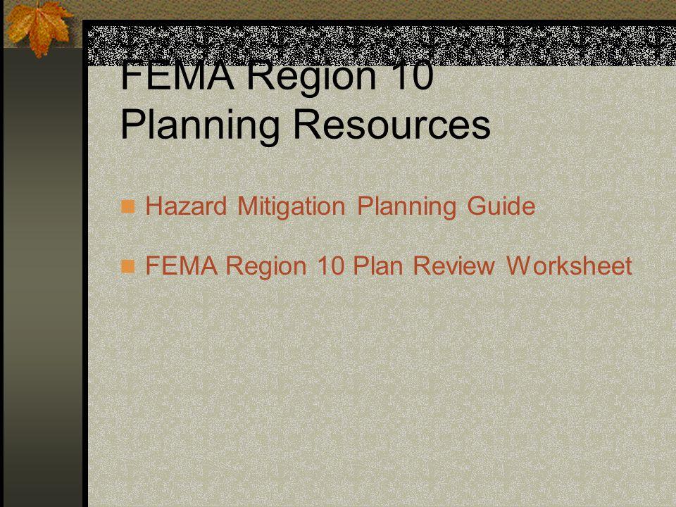 FEMA Region 10 Planning Resources