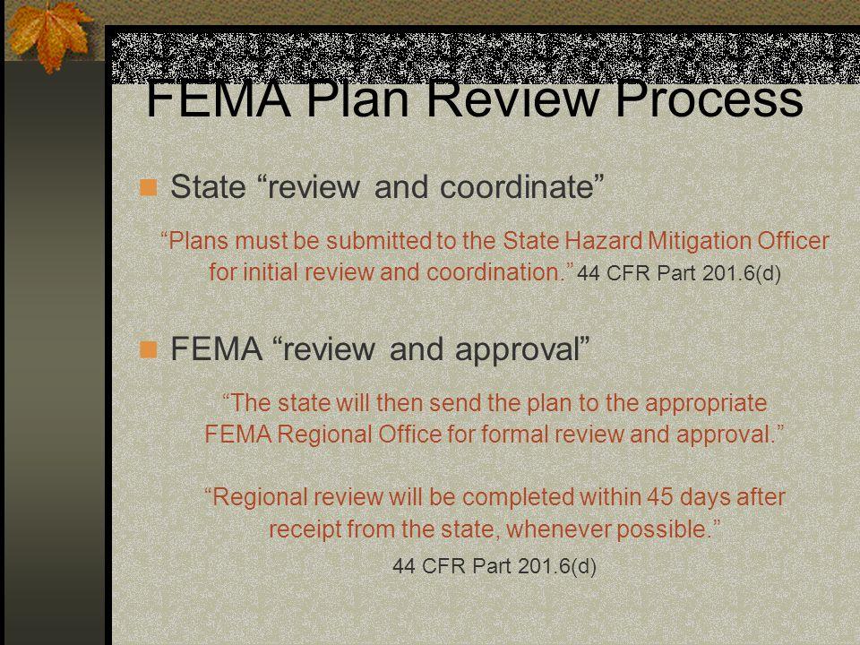 FEMA Plan Review Process