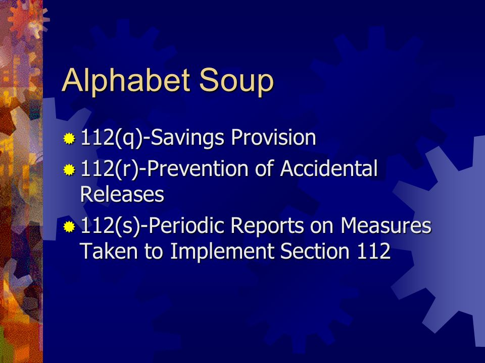 Alphabet Soup 112(q)-Savings Provision
