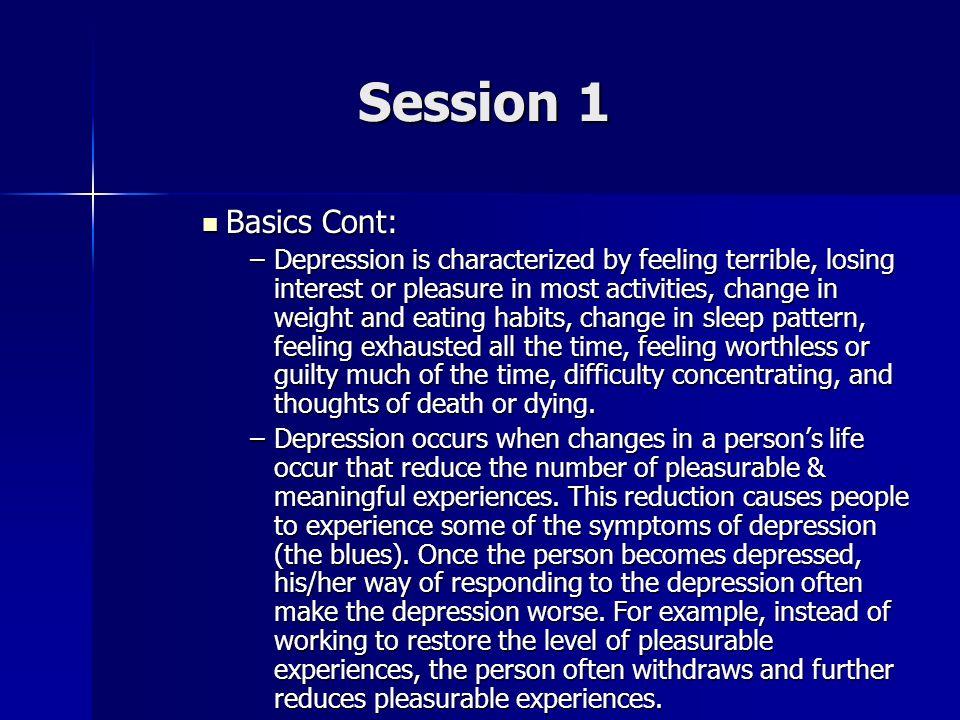 Session 1 Basics Cont: