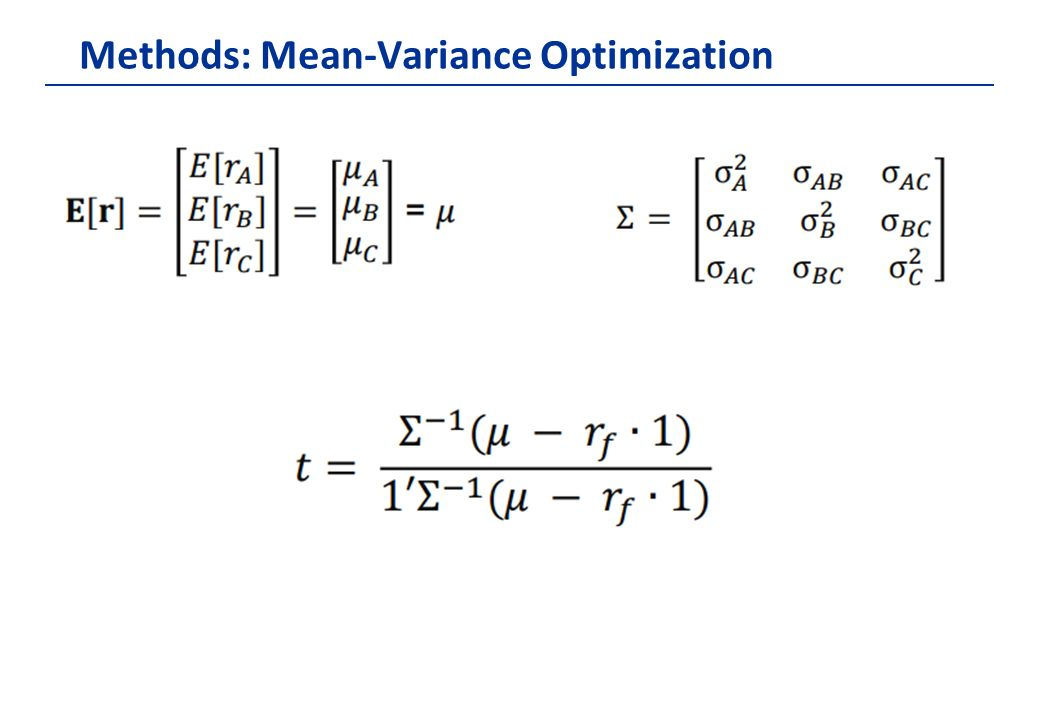mean variance optimization essay Furthermore, different recent improvements of momentum are combined in a mean-variance optimization set-up essays on momentum strategies in finance.