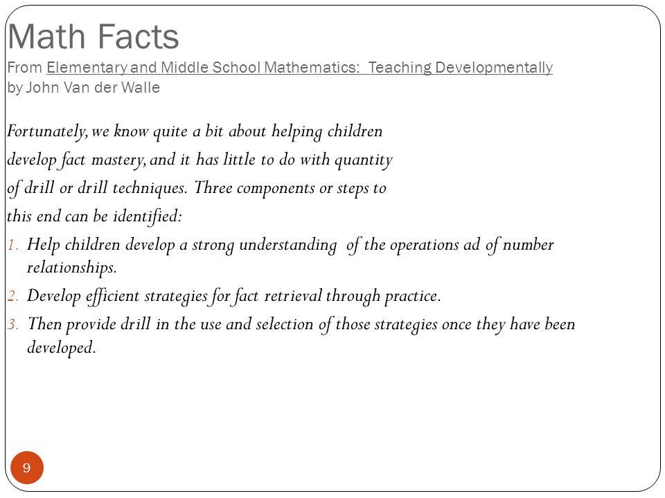 Teaching Math Facts - Kidz Activities