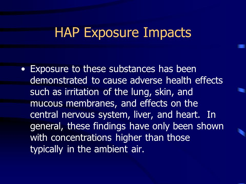 HAP Exposure Impacts