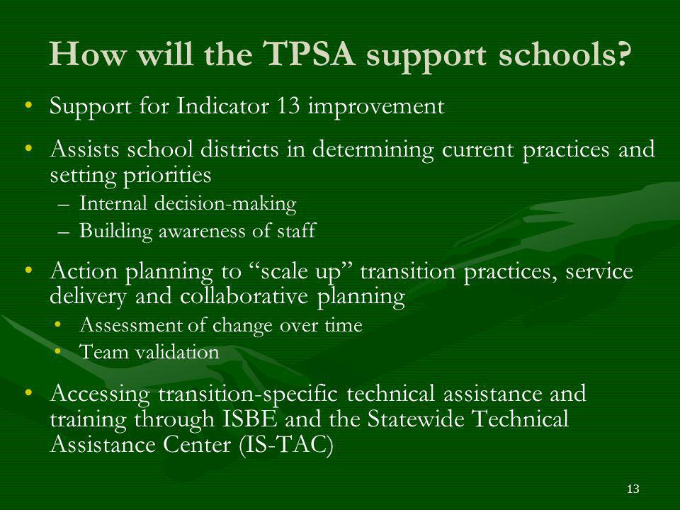 How will the TPSA support schools
