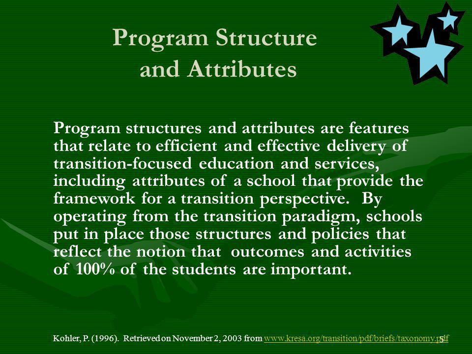 Program Structure and Attributes