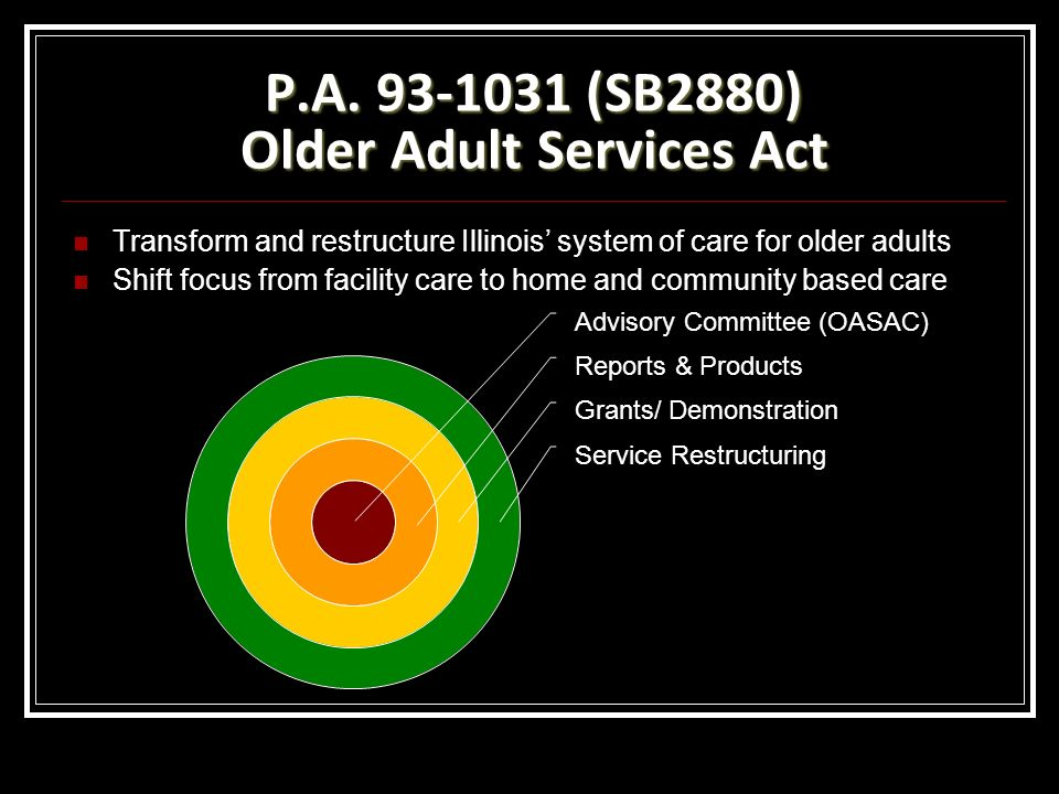 P.A (SB2880) Older Adult Services Act