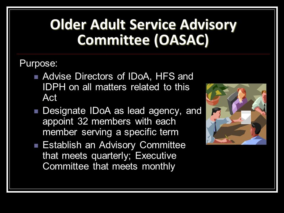 Older Adult Service Advisory Committee (OASAC)