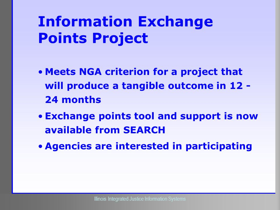 Information Exchange Points Project