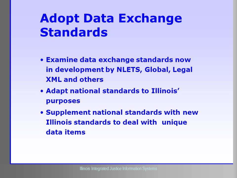 Adopt Data Exchange Standards