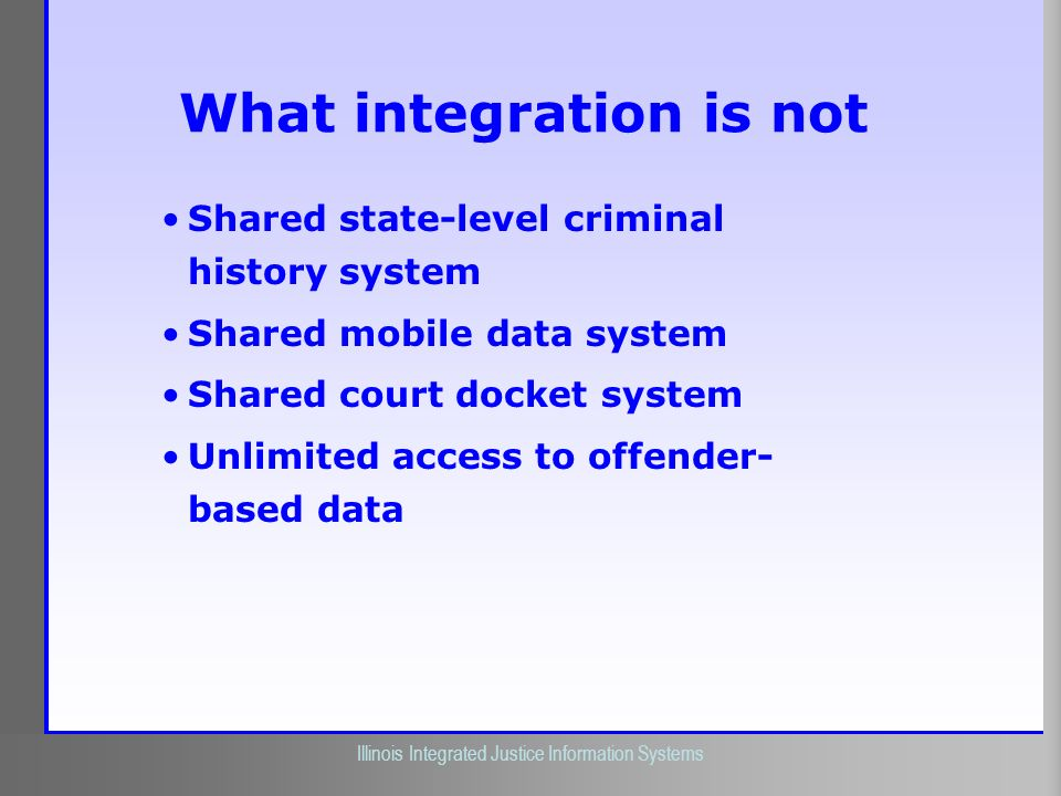 What integration is not