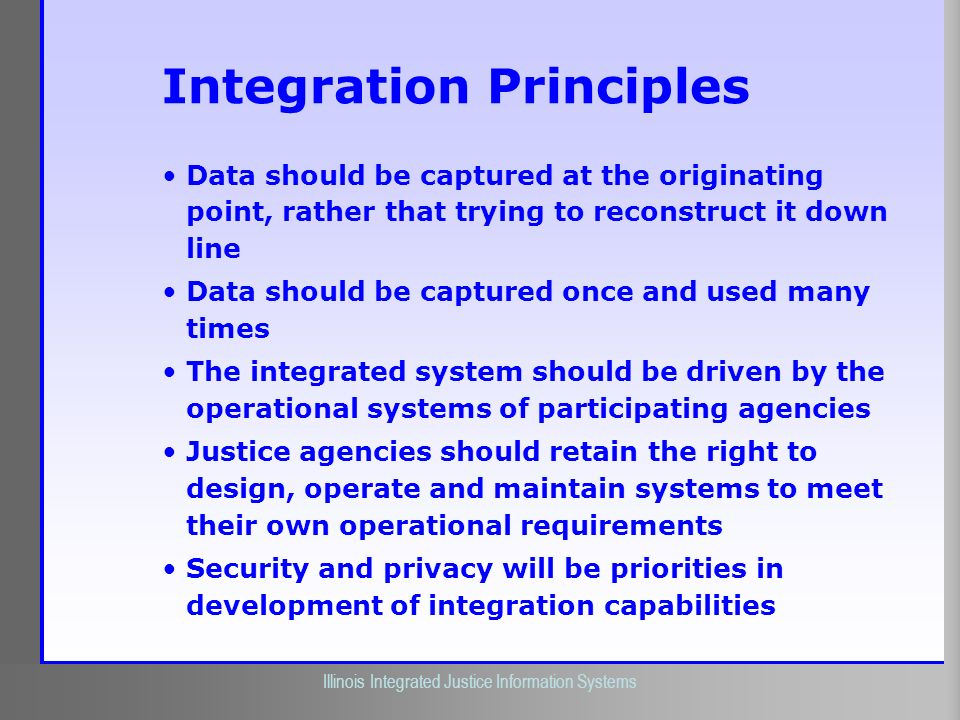 Integration Principles