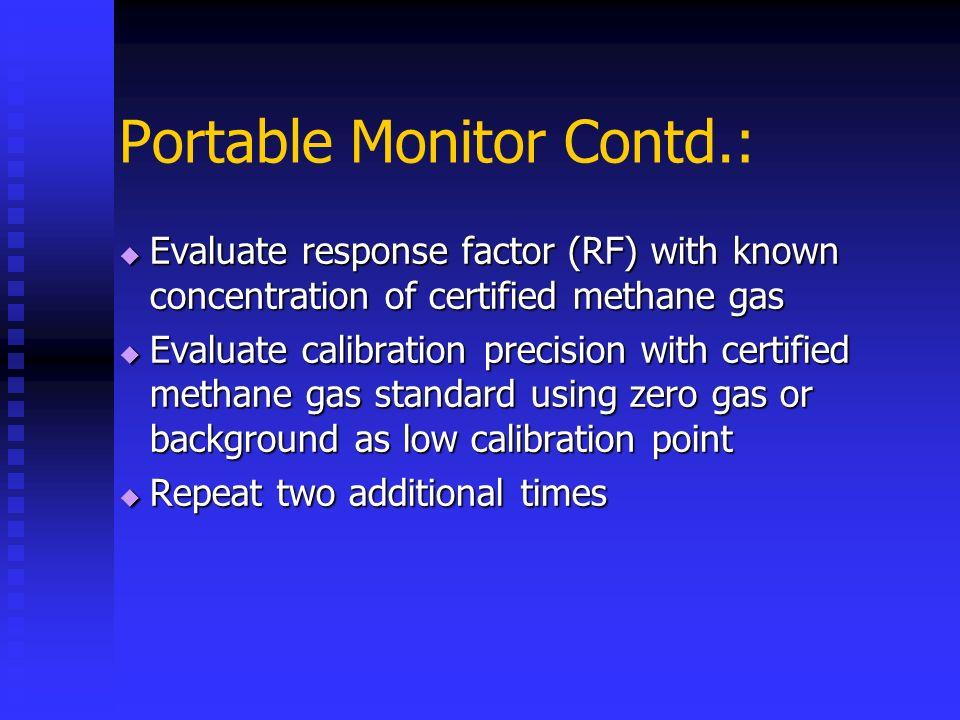 Portable Monitor Contd.: