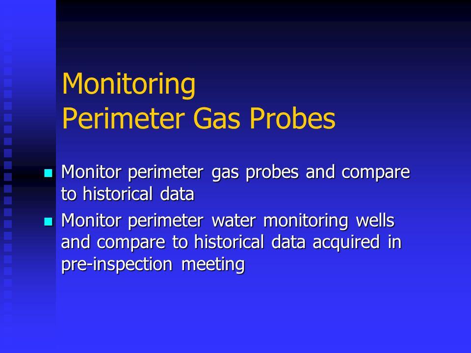 Monitoring Perimeter Gas Probes