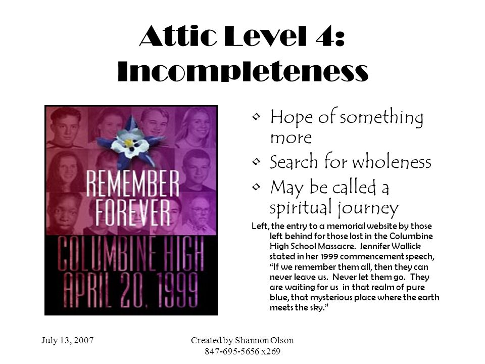 Attic Level 4: Incompleteness