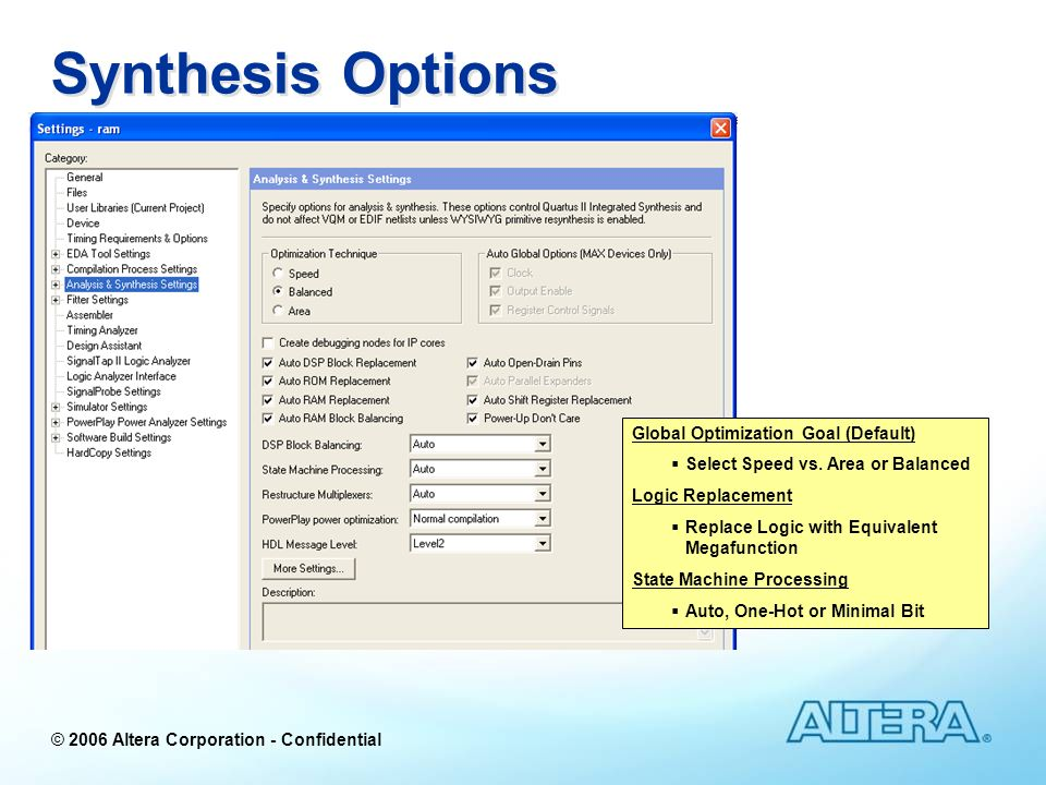 altera wysiwyg primitive resynthesis Application note 309 command-line scripting in the quartus ii software altera recommends you use the quartus_sh --flow option in the quartus ii software version 30 the following.