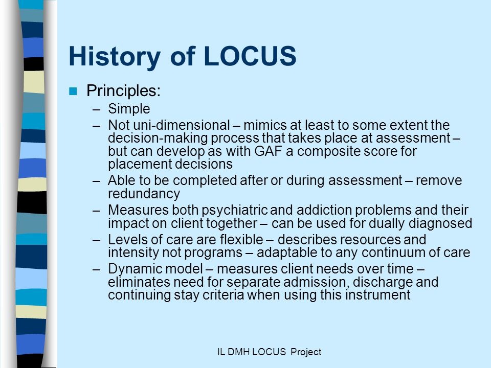 History of LOCUS Principles: Simple