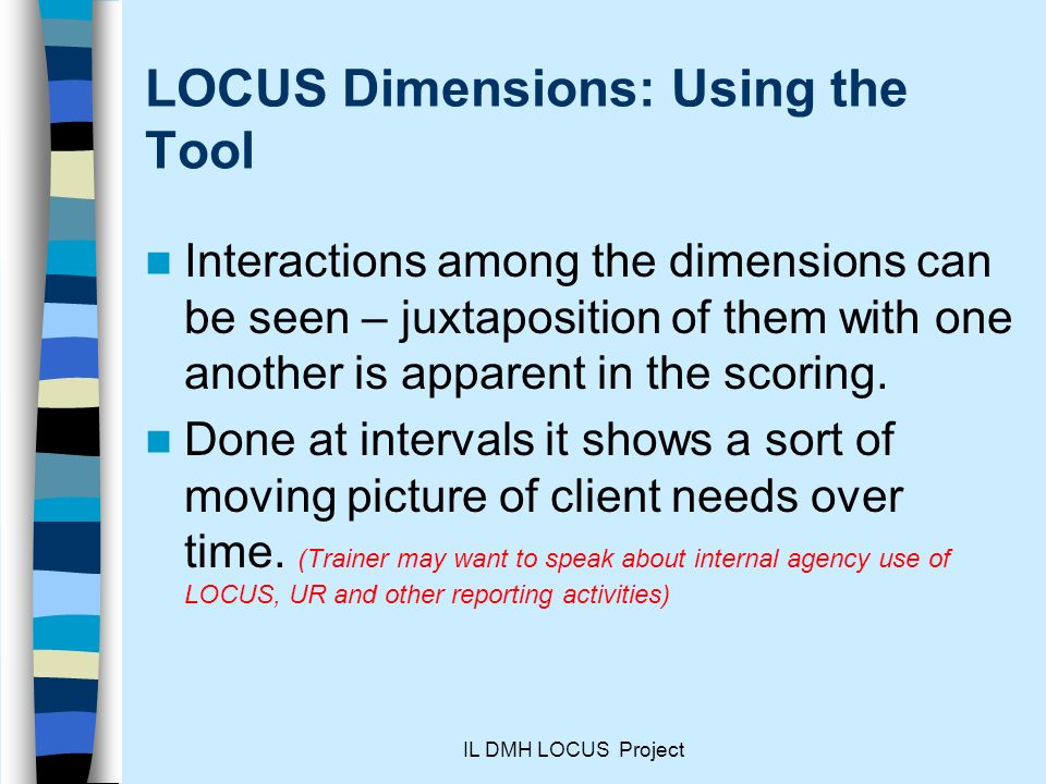 LOCUS Dimensions: Using the Tool