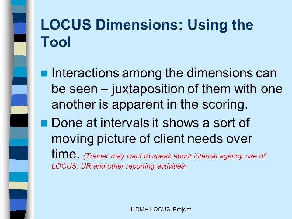 LOCUS Dimensions: Using the Tool