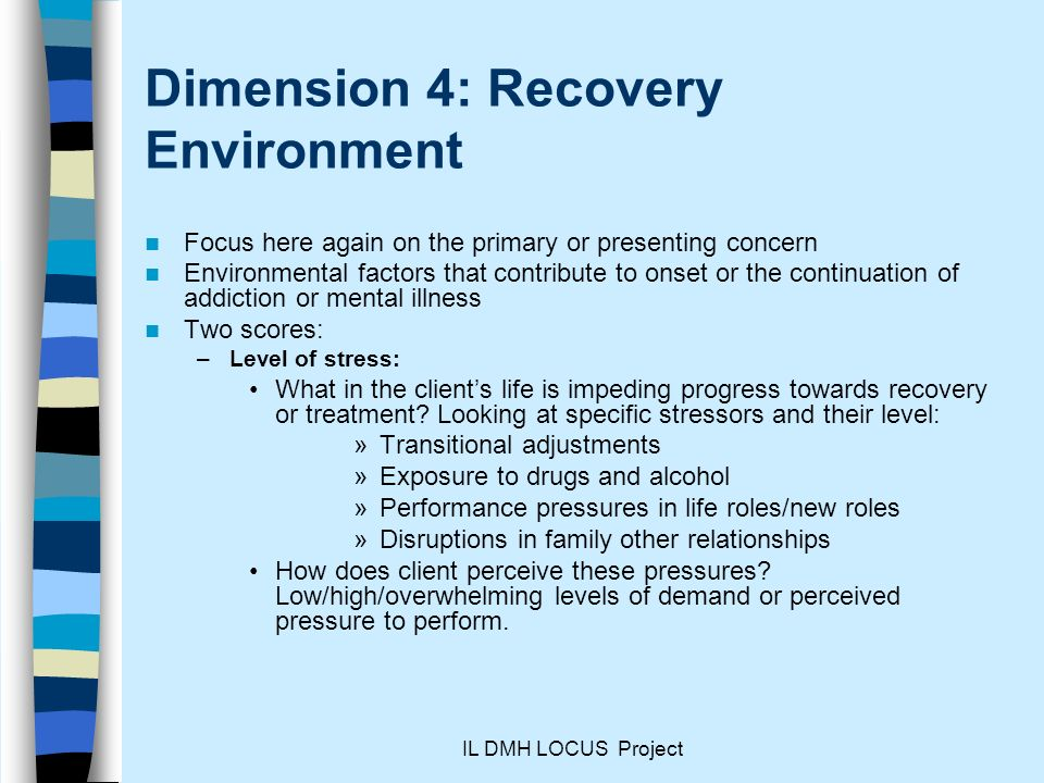 Dimension 4: Recovery Environment