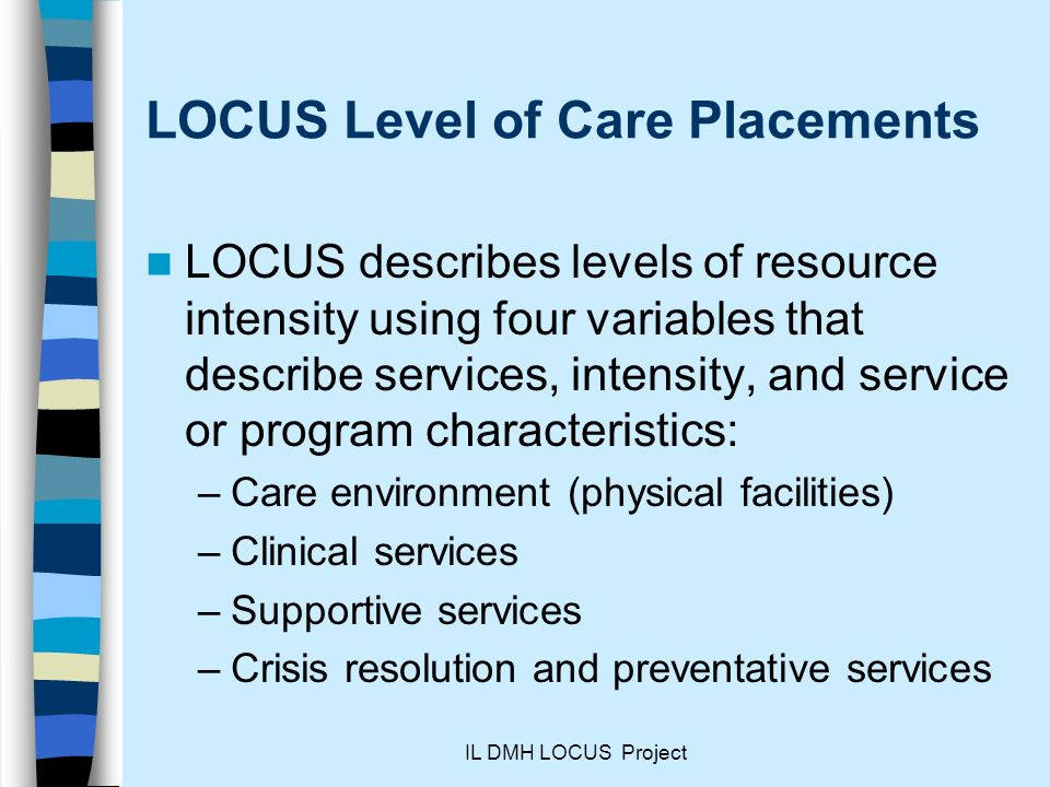 LOCUS Level of Care Placements