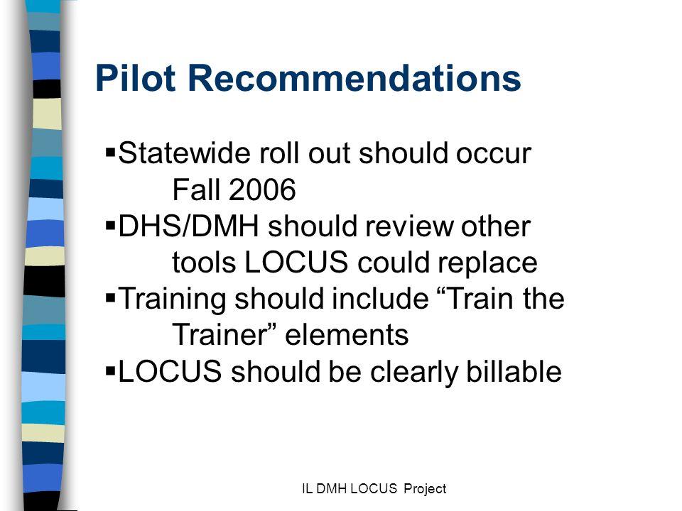 Pilot Recommendations