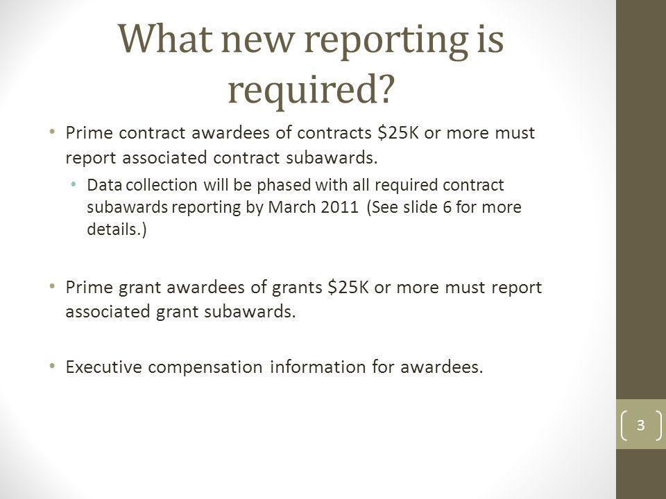 What new reporting is required