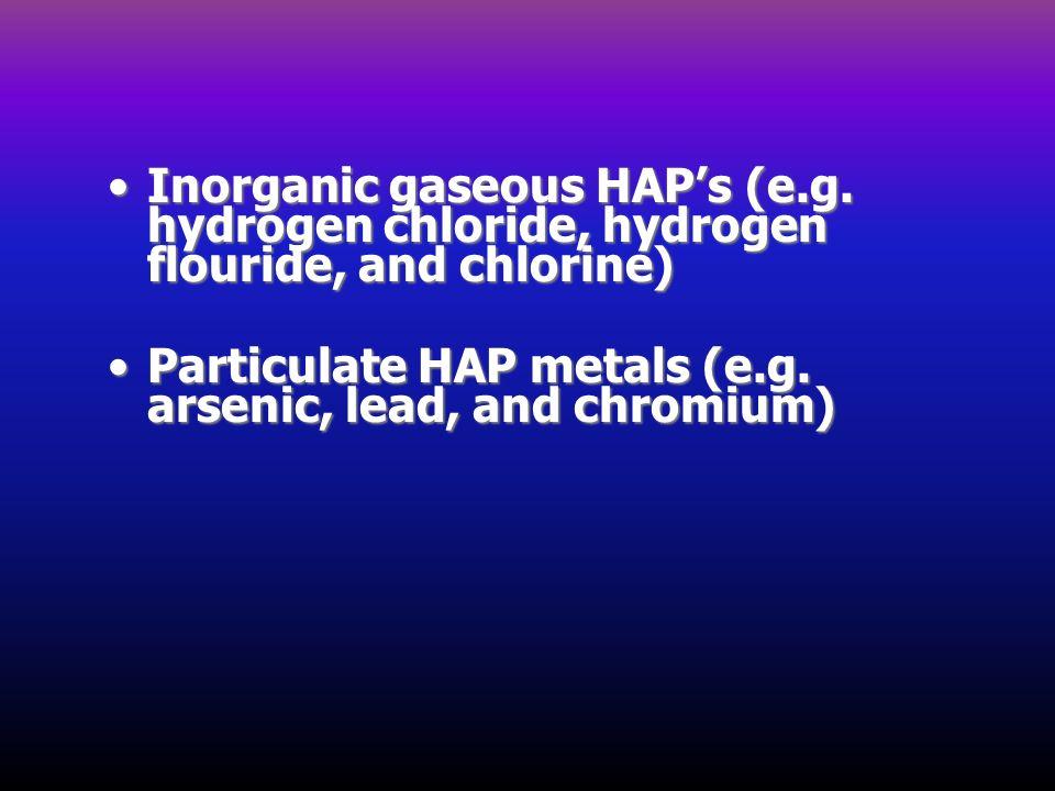Inorganic gaseous HAP's (e. g