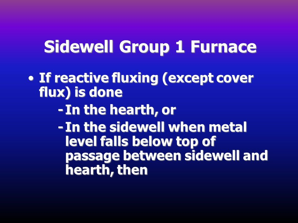 Sidewell Group 1 Furnace