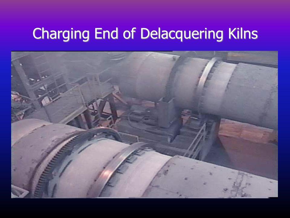 Charging End of Delacquering Kilns