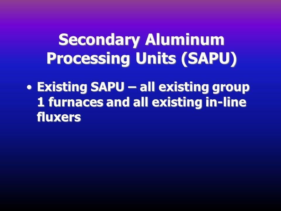 Secondary Aluminum Processing Units (SAPU)
