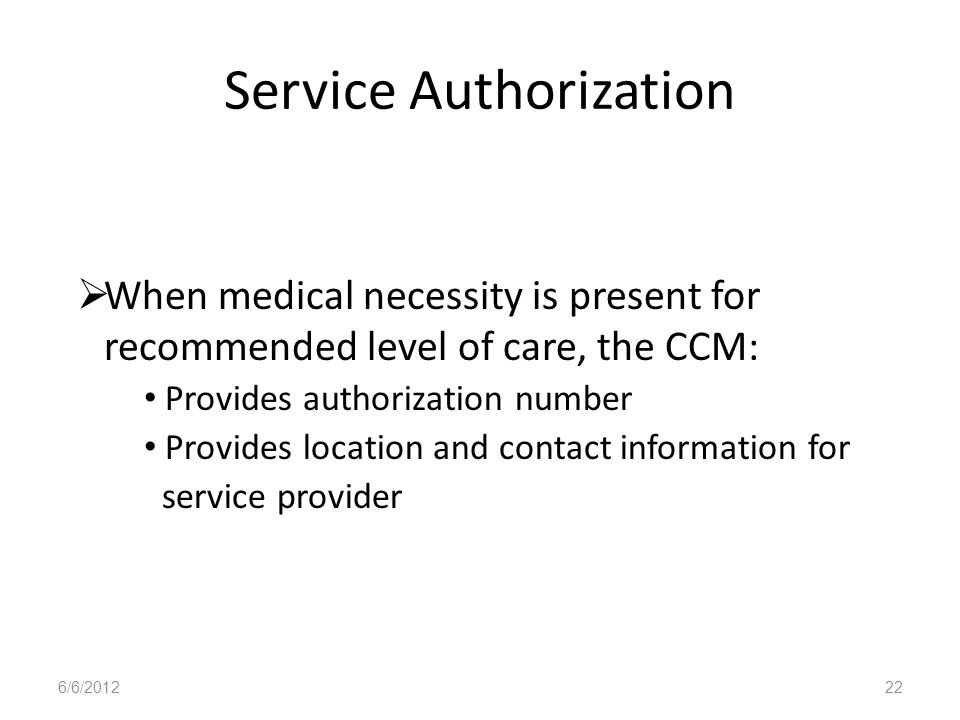 Service Authorization