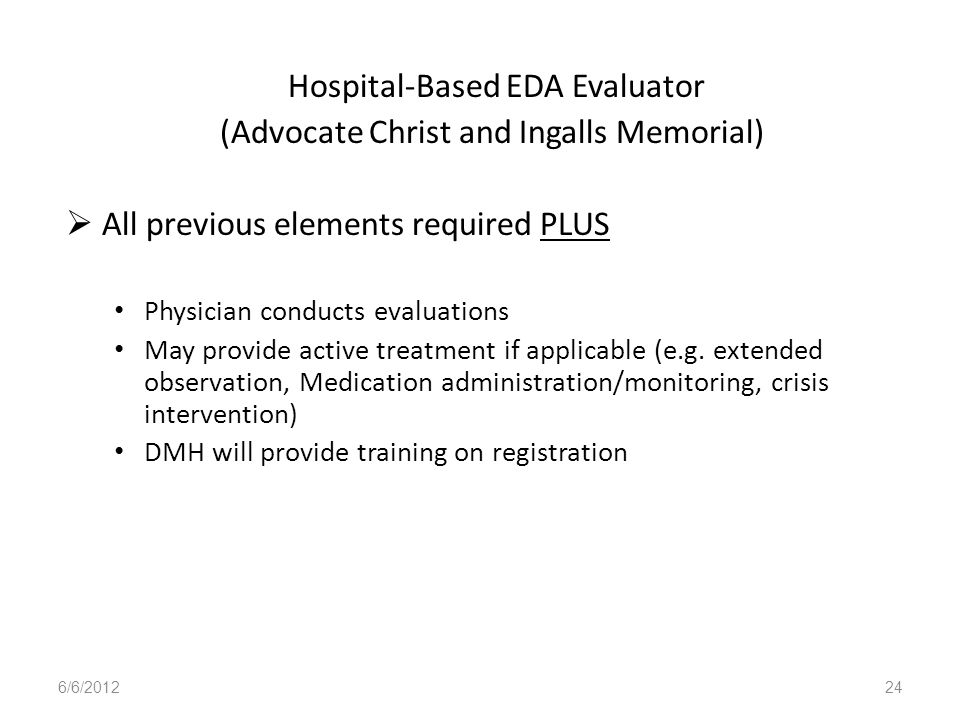 Hospital-Based EDA Evaluator (Advocate Christ and Ingalls Memorial)