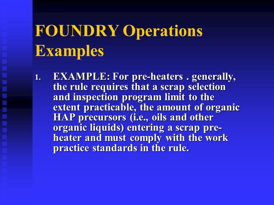 FOUNDRY Operations Examples