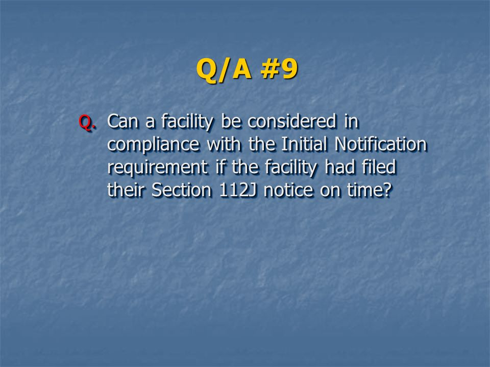 Q/A #9