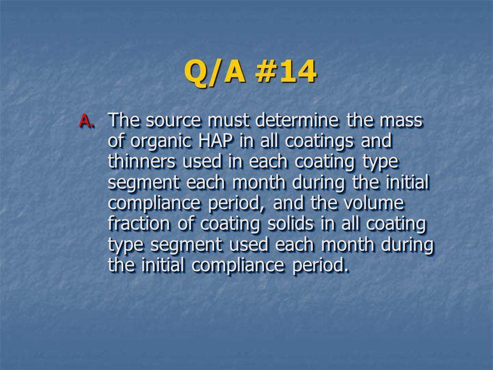 Q/A #14