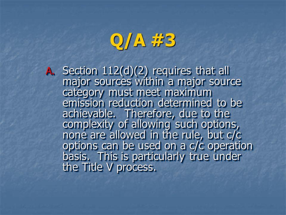 Q/A #3
