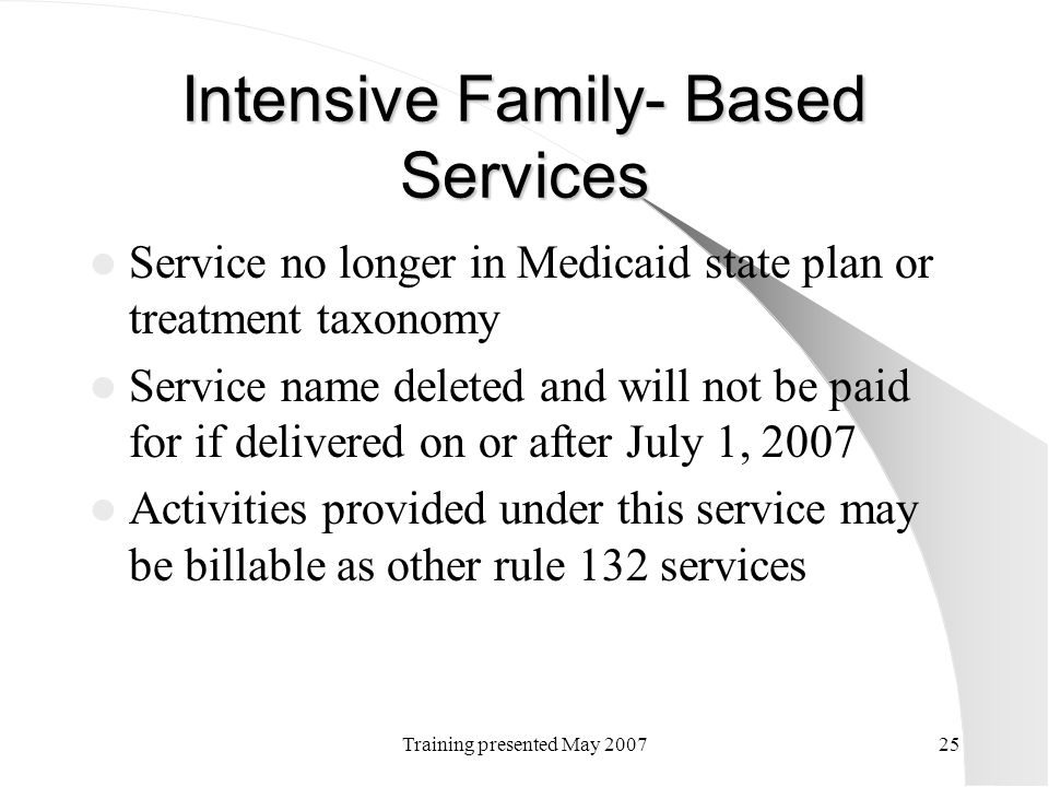 Intensive Family- Based Services