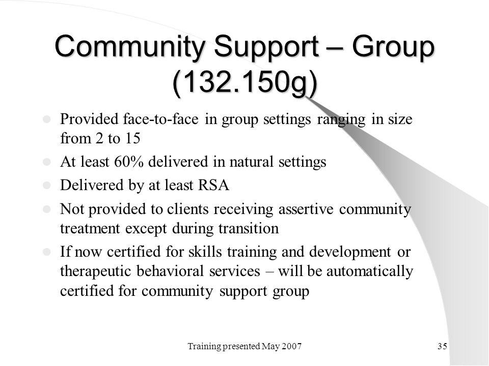 Community Support – Group (132.150g)