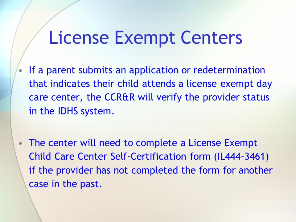 Illinois Department of Human Services Child Care Assistance ...