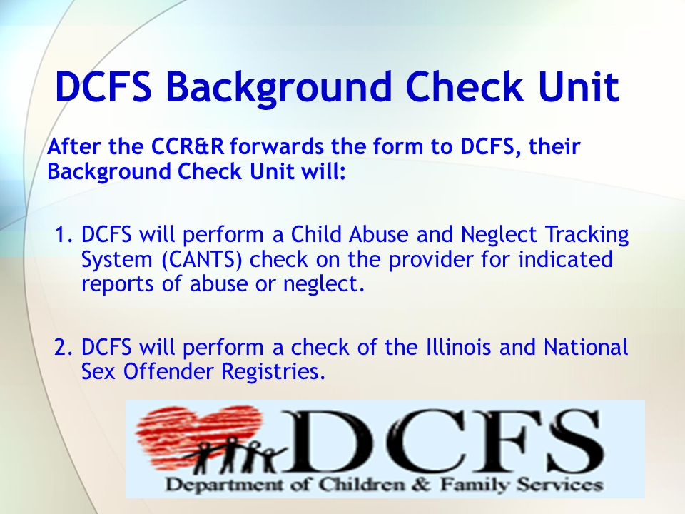 DCFS Background Check Unit