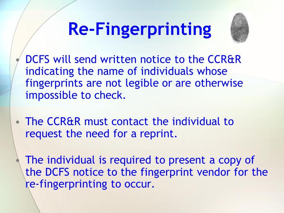 Re-Fingerprinting