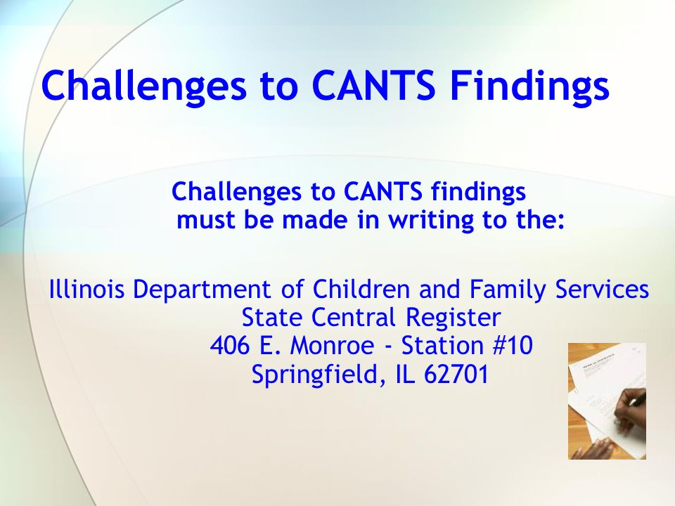 Challenges to CANTS Findings