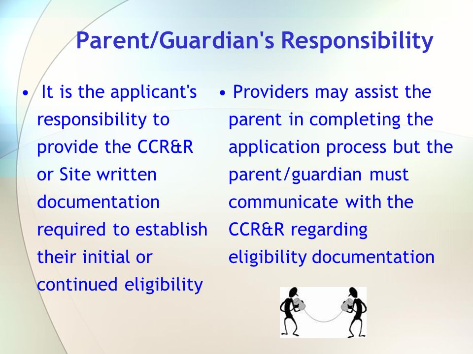 Parent/Guardian s Responsibility