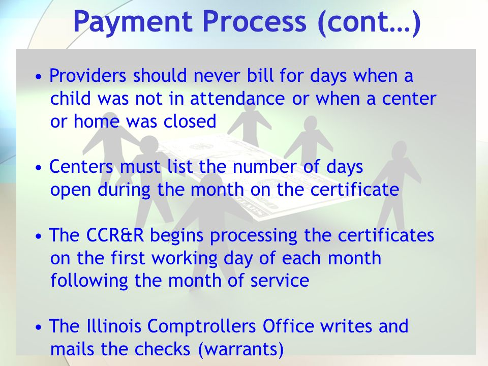 Payment Process (cont…)