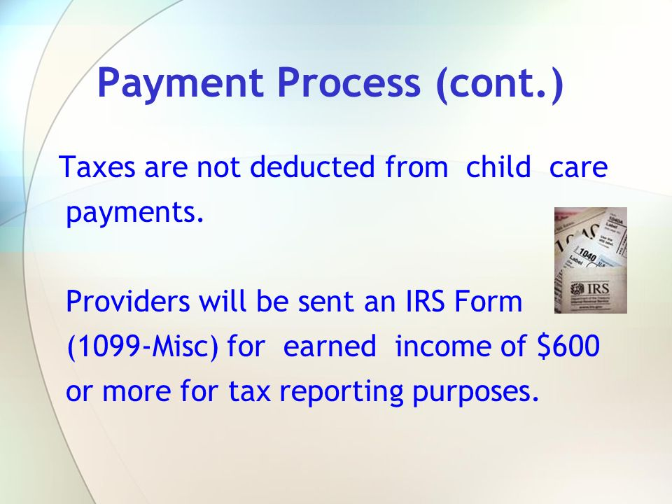 Payment Process (cont.)